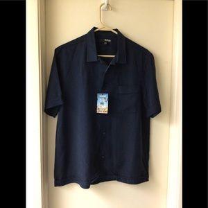 Murano blue button down shirt NWT